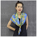 90x90CM 100%Silk Square Scarf Floral Printed Luxury Brand Hijab Bandanas Women Scarves Foulard Femme Cachecol Shawl Wraps S3