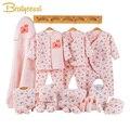Ropa de bebé recién nacido de dibujos animados ropa de invierno de algodón grueso Niño ropa de bebé conjunto de ropa de bebé recién nacido conjunto de regalo 3 colores