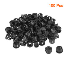 UXCELL Black 100pcs 13mm Mounted Diameter Snap in Cable Hose Bushing Grommet Protector Plastic Electric Plugs Universal