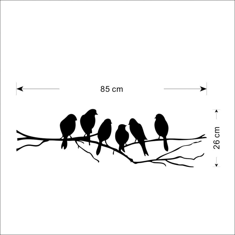 Wonderful 85*26cm DIY Wall Stickers Decal Removable Black Bird Tree Branch Art Home  Mural Wall Sticker Home Living Room Office Decoration In Wall Stickers From  Home ... Part 32
