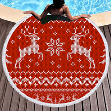 150cm Christmas Beach Towels for Adults Round Microfiber Halloween Party  Bath E1