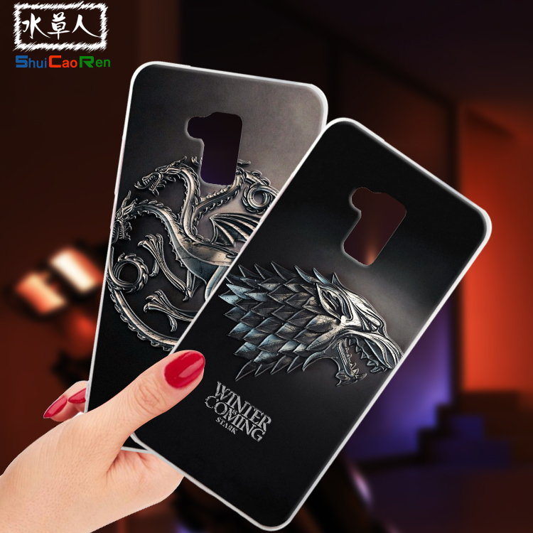ShuiCaoRen Silicone Cases For Huawei Honor 5C Case Huawei GT3 Game of Thrones Black Shell For Huawei honor 7 lite Cover