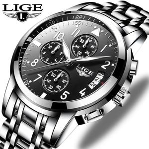 Image 1 - Relogio Masculino Mens שעונים עמיד למים קוורץ עסקי שעון ליגע למעלה מותג יוקרה גברים מקרית ספורט זכר שעון Relojes Hombre