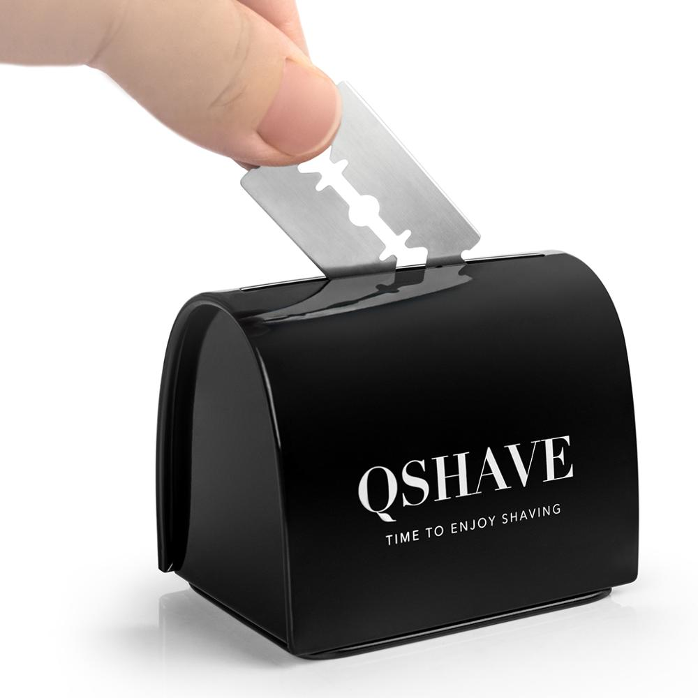 QSHAVE Blade Disposal Case Safe Storage Bank For Used Safety Razor Blades Household Safe Guard