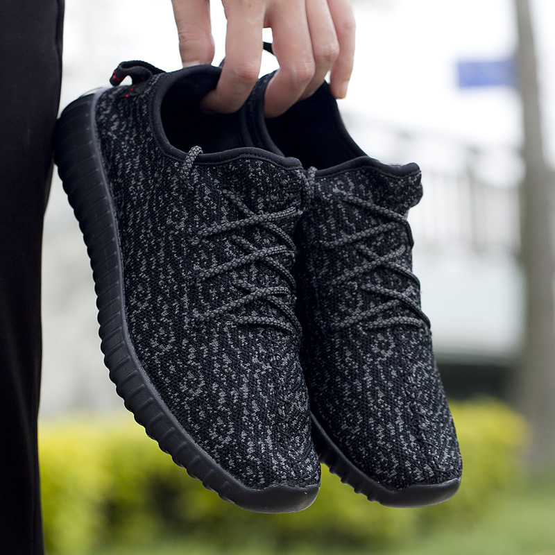 FANPAO 2019 Professional Ultra Lightweight Yeezys Shoes for Men Casual Running Practice Shoes Athleisure Loafers Easy Slip Ons