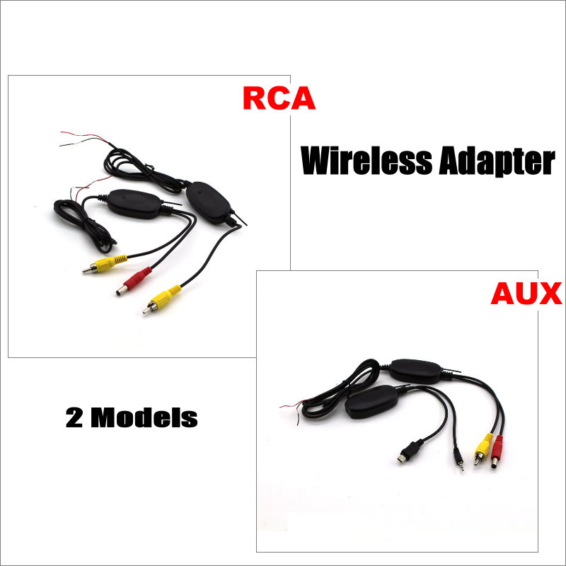 Liislee 2.4G Wireless Receiver and Emitter Adapter For Car Reverse Backup Rear View Camera / RCA to RCA or AUX Video Connector