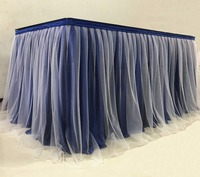Tulle Tutu Table Skirt for Party Wedding Home Banquet Decoration Table Skirting For Table Cloth Table Cover