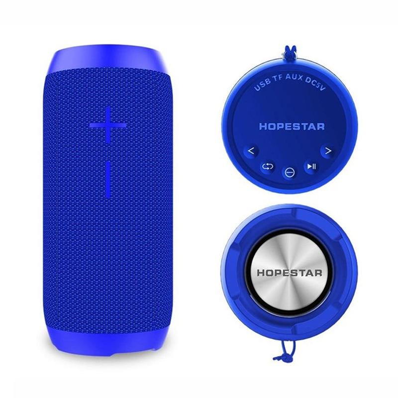 Hopestar 12W Wireless Bluetooth Speaker Column Waterproof MP3 Music Player subwoofer fm radio sound box USB AUX outdoor boombox