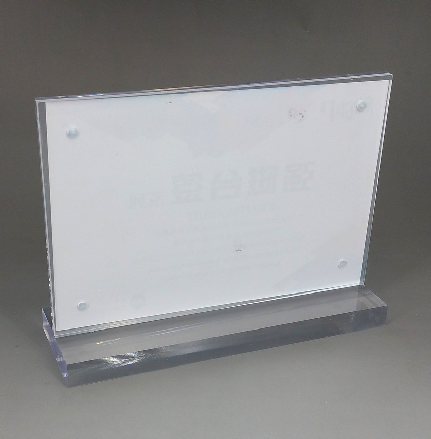 42x30cm A3 Clear Acrylic Sign Display Paper Card Label Holder Horizontal T Stands By Magnet Sucked On Desktop 40pcs Qualified clear acrylic a3a4a5a6 sign display paper card label advertising holders horizontal t stands by magnet sucked on desktop 2pcs