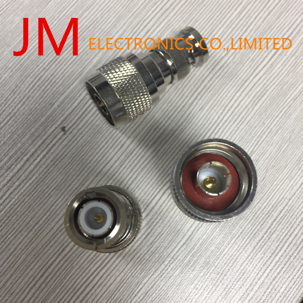 JM ELECTRONICS CO.,LIMITED Bnc Male Plug To N Type Male Plug M/M Straight Adapter Rf Coaxial Cord Connector