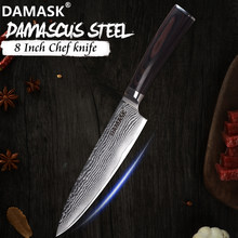 Damask Chef Knife 8 inch Damascus Blade Japanese Cooking Knife 67 Layer VG10 Steel Kitchen Cutlery Master Chef Recommend Tools(China)