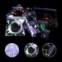 DHL Clear Ziplock Plastic PVC Pack Bag Anti oxidation Jewelry Necklace Bracelet Ornament Jade Storage Package Pouch 11 Size