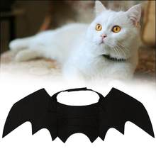 1 pc Gatos Engraçados Cosplay Asas de Morcego Morcego Gato Traje Fit Partido Traje de Halloween do animal de Estimação Cães Gatos Jogando Acessórios Para Animais de Estimação ZMM7229(China)