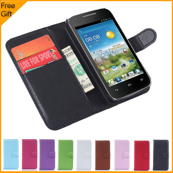 b7cdf0b5c9 2015 Luxury Flip Wallet PU Leather Case Cover For Huawei Ascend Y540 Cell  Phone Shell Back Cover With Card Holder Stand & Gift