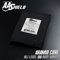 AA Shield Bullet Proof Soft Armor Panel Body Armor Inserts Plate Aramid Core Self Defense Supply NIJ Lvl IIIA & HG2 8X10