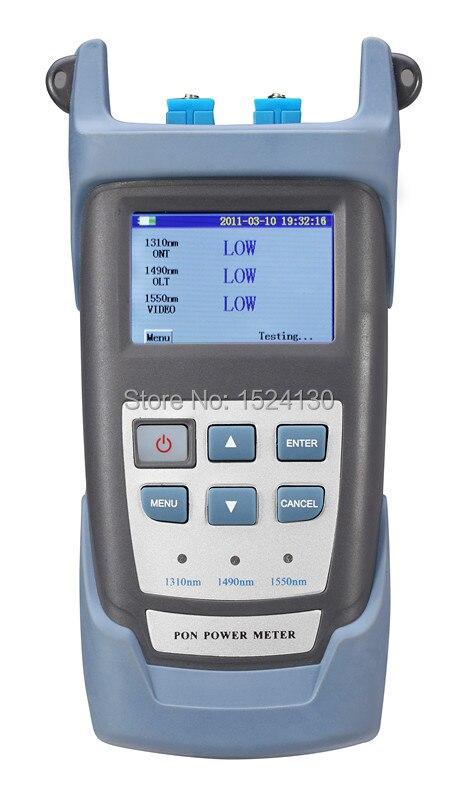 Handheld PON Optical Power Meter con PON MISURATORE di Test di Rete di Lunghezza D'onda (1490nm, 1550nm, 1310nm) ONT/OLT RY-P100