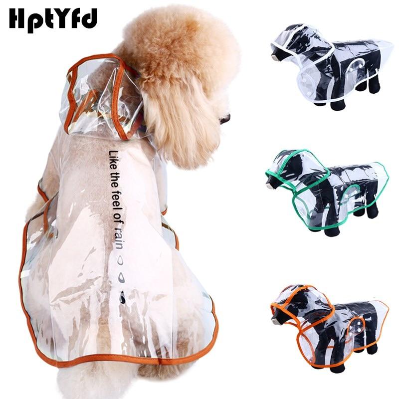 XS-XXL 애완견 견종 비옷 고양이 방수 투명한 옷 강아지 야외 관습 의류 작은 개 비 덮개 재킷
