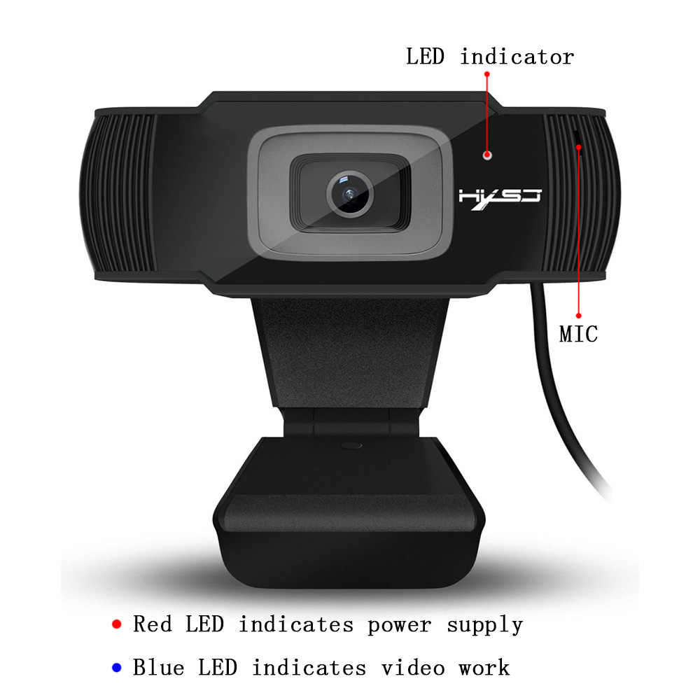 HXSJ new webcam HD1080P 30FPS auto focus computer camera USB  sound-absorbing microphone for laptops web cam