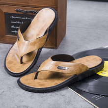 купить Fashion Brand Flip Flops Summer Flip Flops Men Beach Shoes Brown Slipper Men Flat Outside Casual Slides Designer Slippers Men по цене 887.65 рублей