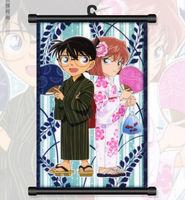 Home Decor Giapponese Detective Conan Anime Poster Da Parete Scroll
