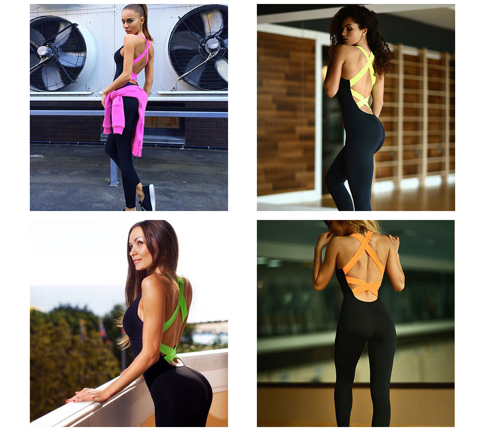 Clothing - Backless Workout Tracksuit For Ladies