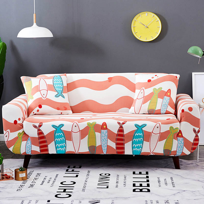 Pattern Elastic Stretch Universal Sofa Cover Couch Cover All-inclusive Non-slip Warm Sofa Cover Non-slip Leather Sofa Set Cz51 Home Textile Sofa Cover