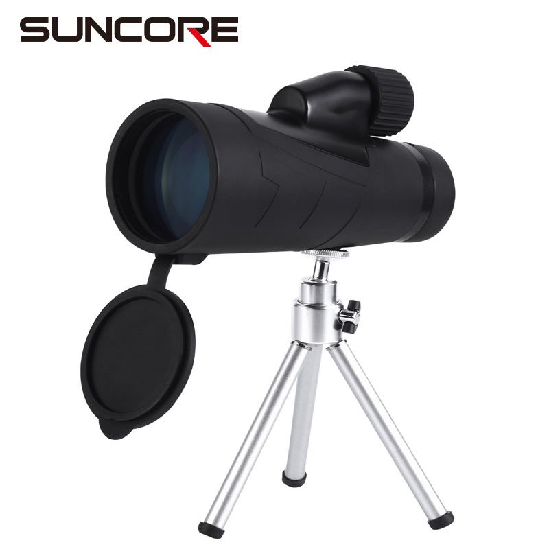 SUNCORE-Waterproof Monocular Telescope With Metal Stand And Side Hand Strap suncore water resistant 12 x 25mm monocular telescope