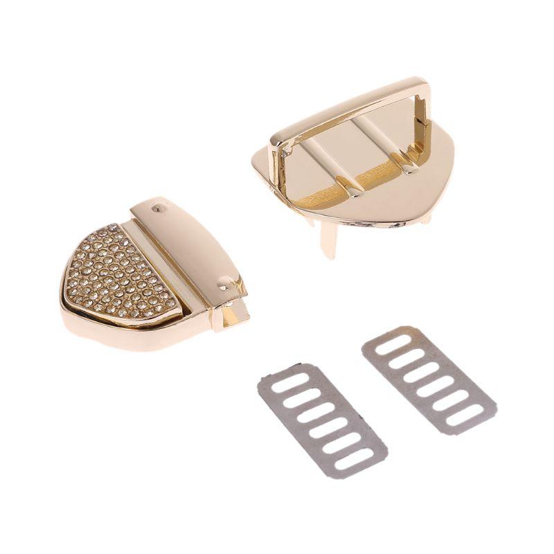 Metal Clasp Turn Locks Twist Lock For DIY Handbag Crossbody Shoulder Bag Purse Hardware