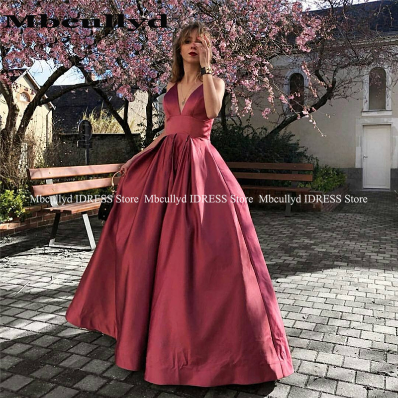 Burgundy Black Girls A-line Prom Dresses Long Deep V Neck Sexy Backless Formal Evening Gowns Cheap vestidos de fiesta de noche