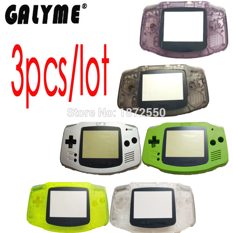 Galyme 3 pcs lot For NintendoGBA Housing Case For GameboyAdvance Shell Complete Housing Case Shell Game Cover Boy Console