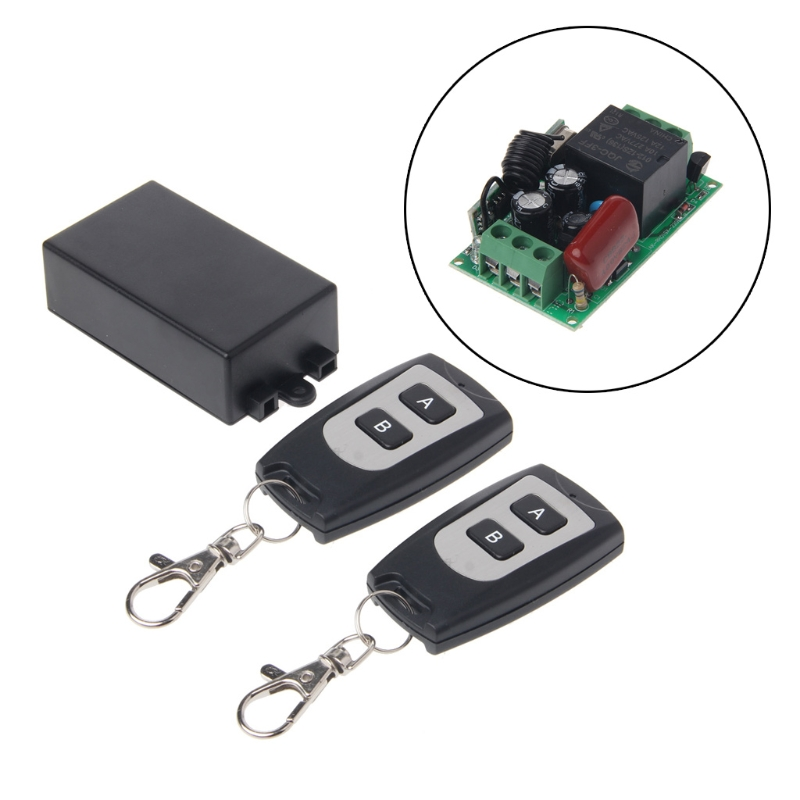 220V 10A relay 1CH Wireless RF Remote Control Switch 1 Transmitter+ 2 Receiver 315MHZ/433MHz Remote controller Drop ship dc 12v 10a 1ch rf remote control switch mini wireless relay receiver remote controller systerm transmitter 315mhz 433mhz