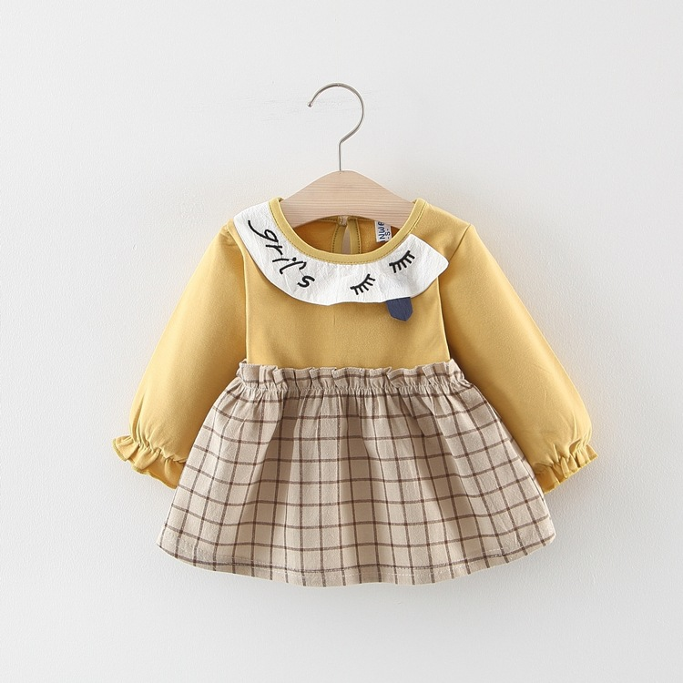 Children's Clothing Shirts Autumn Long Sleeve Fall Toddler KidsBaby Girl Plaid Pullover Sweatshirt Clothes One piece Kid Clothes 5
