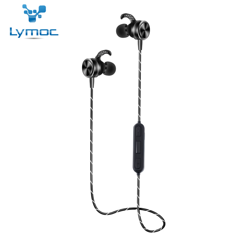 LYMOC Wireless Bluetooth Headset Magentic Switch Earphones Metal CSR4.1 Noise Cancelling Earbuds HD MIC Earphone for All Phone remax t11c bluetooth earphones 2in1 mini earbuds with dual usb car charger wireless car headset cvc noise cancelling for phone