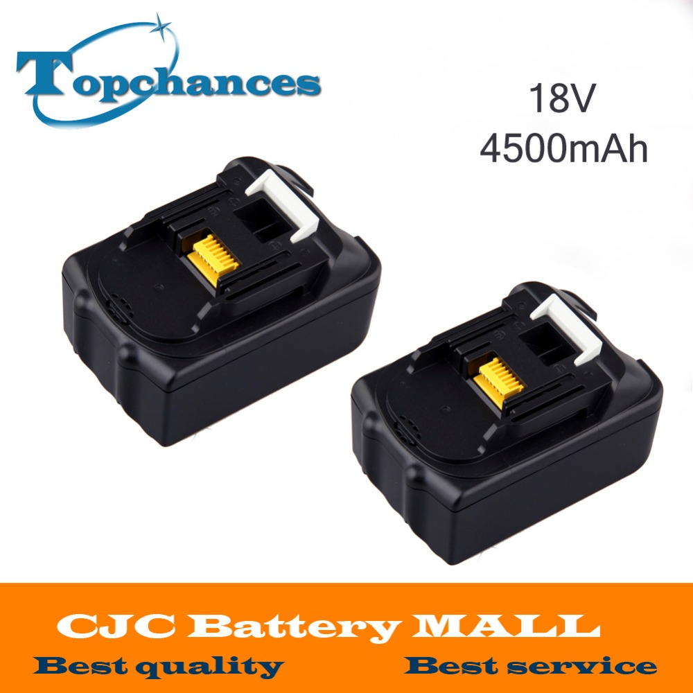 ФОТО High Quality 2X 18V 4.5Ah Li-Ion Battery for MAKITA BL1815 BL1830 LXT400 194309-1 BL1835