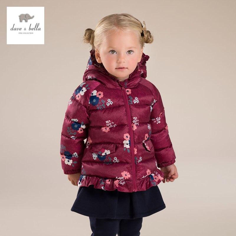 DB3626 DAVE BELLA girls princess winter down jacket fashion outerwear children clothes