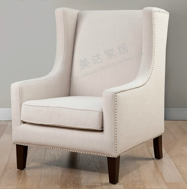 Single Sofa Chair Spanish Beds European High Back American Tiger Den Bedroom Hotel Classic Stool