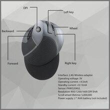 Delux M618 2.4G Sans Fil Ergonomique Verticale Souris Optique Ordinateur Souris Réglable 1600 DPI 5D Boutons avec Amovible Palm Rest