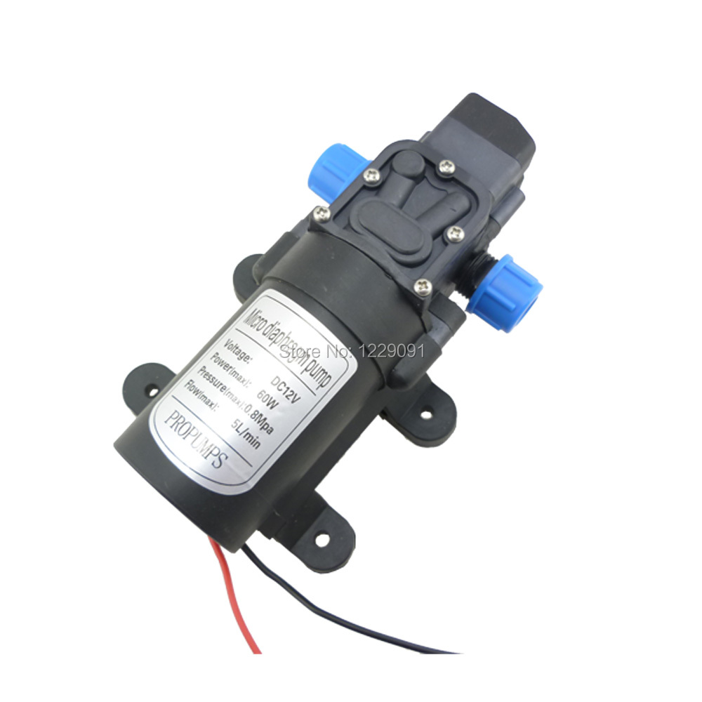 DC 12 Volt 60W 5L/Min Small Water Pump Automatic Pressure Switch For Cleaning, Sprayer , Irrigation