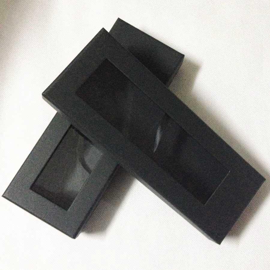 Lingyao дизайнерский обтягивающий галстук уникальный панельный галстук черный с синими полосками в подарочной коробке - Цвет: Слоновая кость