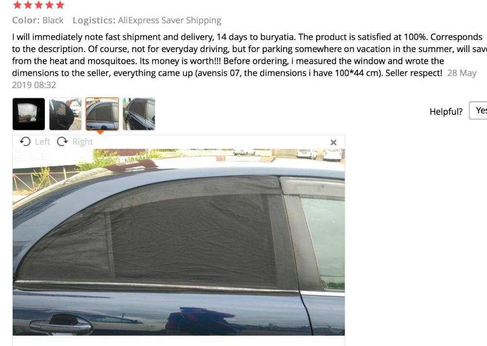 2Pcs Car Sun Shade UV Protection Car Curtain Car Window Sunshade Side Window Mesh Sun Visor Summer Protection Window Film New 1