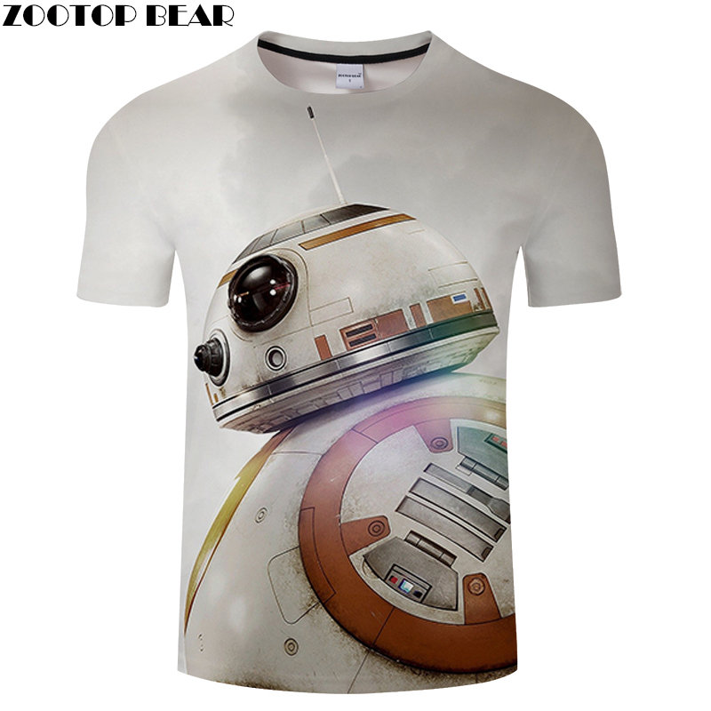 Huge Robot Men Shirt 3D Print Male Tees Anime Star Wars Lego Shirts Quick Dry Fitness Breathable Summer Casual Tops ZOOTOPBEAR