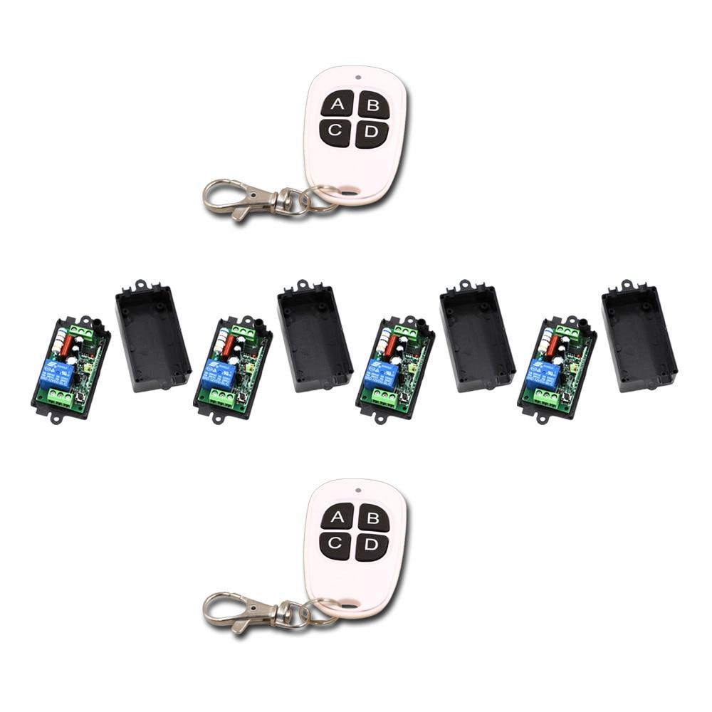 Smart Home AC110V 220V 1CH RF Wireless Remote Switch Radio ON/OFF 2Transmitter & 4Receiver 315/433mhz