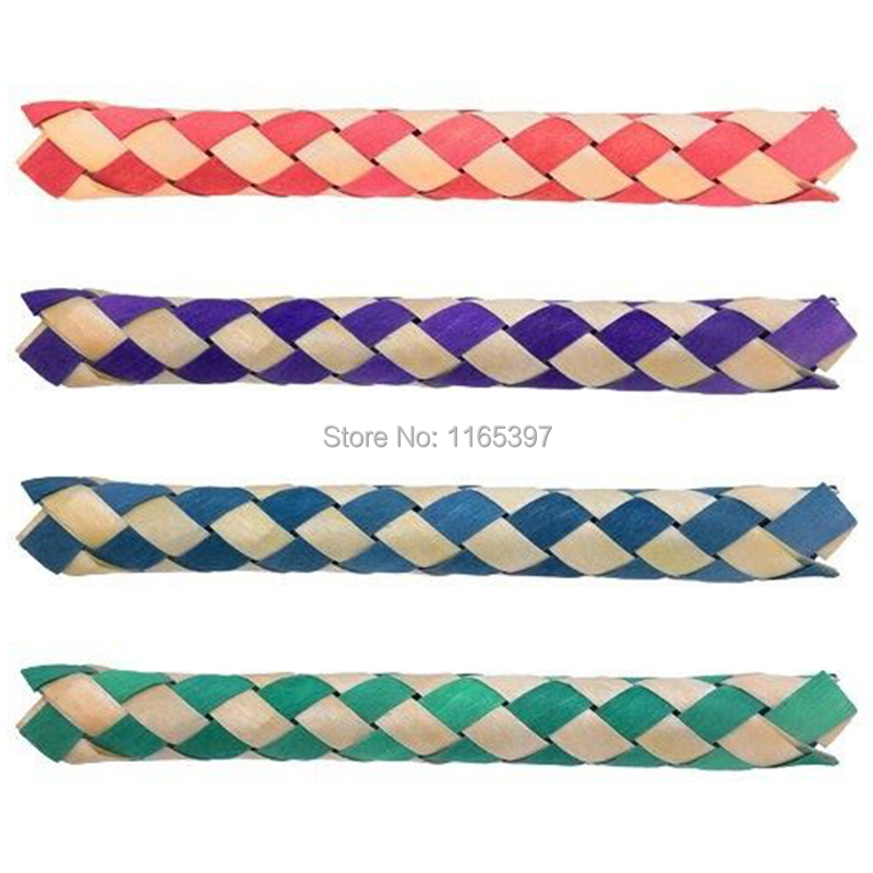 Free ship 24x fun practical Chinese finger traps magic trick joke gag toys for kids party toys loot bag fillers give away prizes image