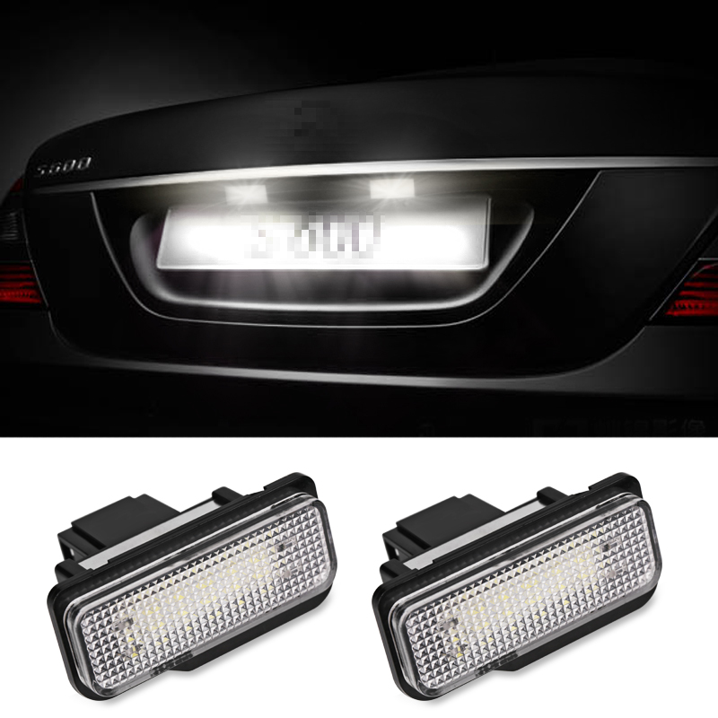 Urbanroad 2 unids coche LED Marcos de matrícula luces para Mercedes ...
