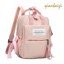 все цены на 2019 Woman Oxford Bagpack Shoulders Bags Teenage Girls School Laptop Backpack Women Girl Mochila Preppy Style Casual Backpacks онлайн