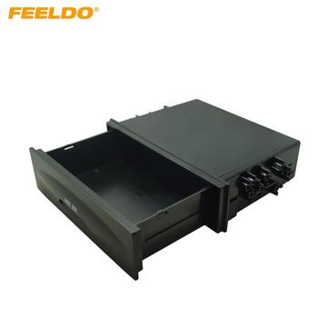 1DIN rozmiar samochodowe stereo Dashboard montaż montaż montaż tapicerka konsola Spacer kieszeń kaseta szuflada schowek # AM1574 tanie i dobre opinie FEELDO 12 5cm Blendy 17 8cm 0 3kg 2017 5inch