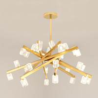 Nordic LED chandeliers living room suspended lamps iron bedroom luminaires dining room deco fixtures Crystal hanging lighting