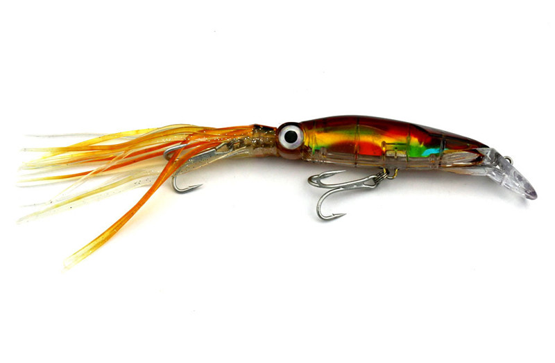 Lifelike Big Octopus Squid Jig Fishing Lure 14cm40g Hard Plastic Artificial Bait with Treble Hooks Fishing Tackle Accessories (12)
