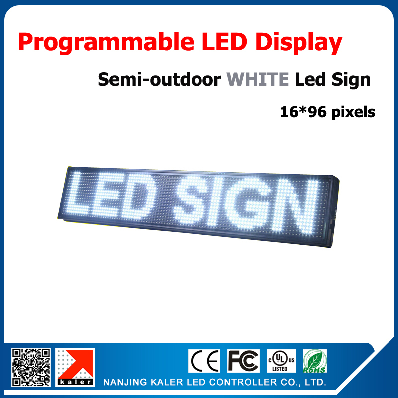 CE Approved P10 Led Screen Module Board Semi-outdoor Led Billboard Advertising With White Color, Programmable And Scrolling