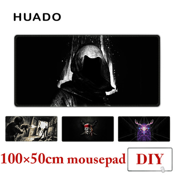 Black Mouse Pad for gamer large mouse mats big mousepad gamepad for steelseries/world of warcraft/cs go/dota/overwatch/starcraft